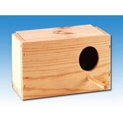 Nido periquitos madera