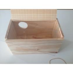 Nido agapornis, madera
