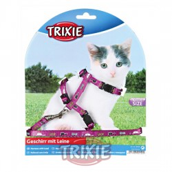TRIXIE, SET GATITOS, 21-34CM/8MM, 1.20M, NYLON, COL.SURT.