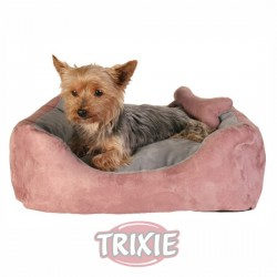 TRIXIE, CAMA CHIPPY, 50×40 CM, ROSA/GRIS