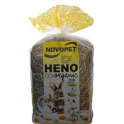 NOVOPET, HENO PREMIUM CAMOMILA Y DIENTE DE LEON 500GR