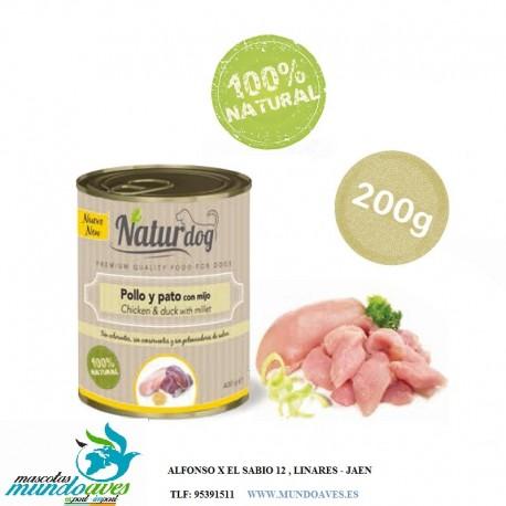 NATURDOG POLLO, PATO Y MIJO 200GR