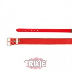 TRIXIE, COLLAR BASIC, PIEL, XS-S, 24-29CM/12MM, ROJO