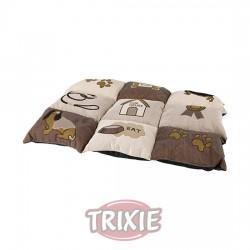 TRIXIE, MANTA PATCHWORK, 55 × 40 CM, MARRÓN-BEIGE