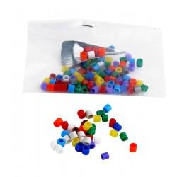 Anillas plástico colores 100 unidades