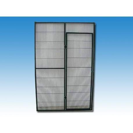 Panel malla voladero 100x195cm con puerta peatonal