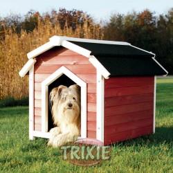 TRIXIE, CASETA HOUSE COUNTRY, S–M, 71×69×75CM, ROJO-BLANCO