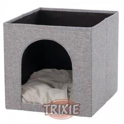 TRIXIE, CUEVA SUAVE ELLA PARA ESTANTERÍA, 33×33×37CM, GRIS
