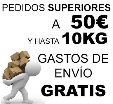 Envío gratis a partir de 50€ y hasta 10kg